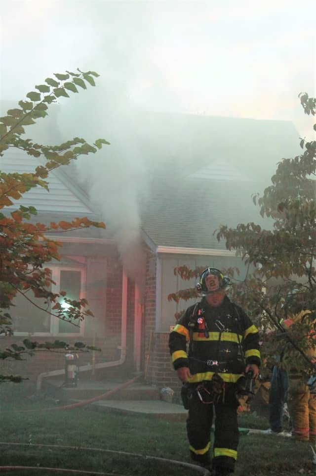 Firefighters doused the Fair Lawn blaze in about an hour.