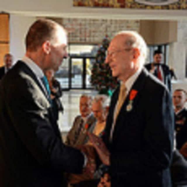A Wilton man was due to receive the Croix de Chevalier dans l'Ordre de la Légion d'Honneur in a ceremony similar to the one pictured here.