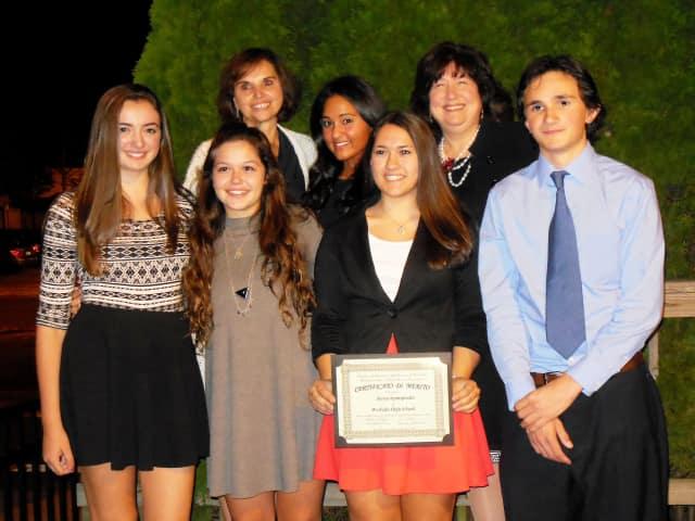 Front row, from left: Loredana Pizzuti, Jessica Resciniti, Alyssa Spampinato and Michael Sala. Back row from left: Adriana Aloia, Francesca Bellomusto and Rossana Caringi.