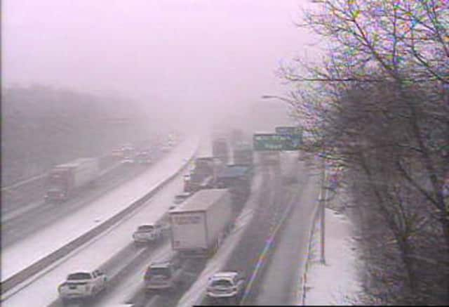 Icy and slippery conditions have created travel headaches throughout Fairfield County.