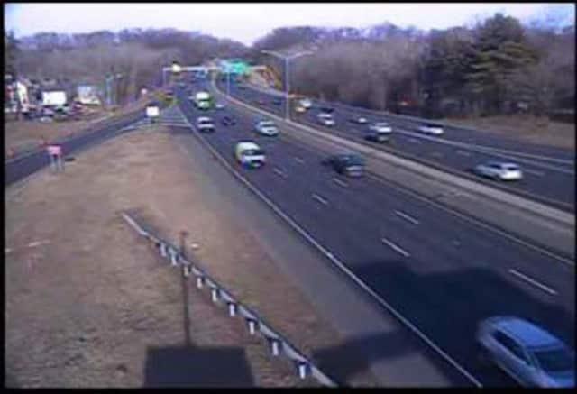Traffic on I-84.