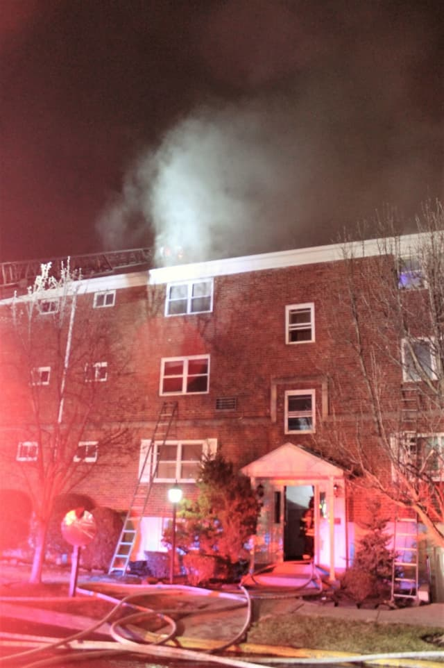 The electrical fire spread throughout the building at 970 Main Street in Hackensack.