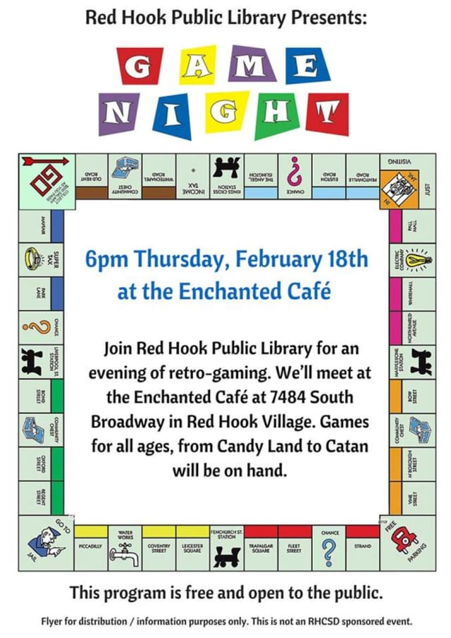 The Enchanted Cafe will host a night of board games on Feb. 18.