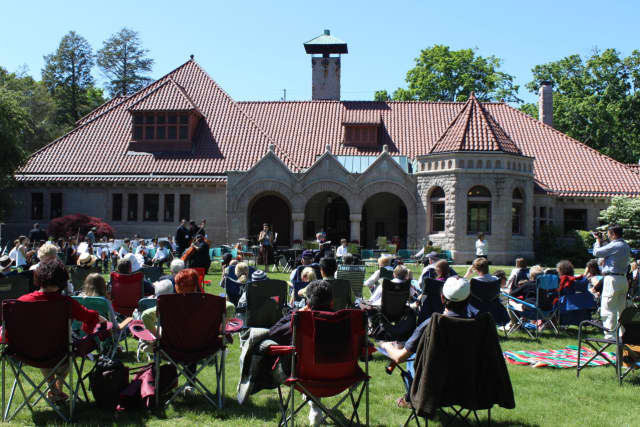 A performance by the Greater Bridgeport Youth Orchestra. The orchestra will perform on the lawn at the Pequot Library in Fairfield on May 21.