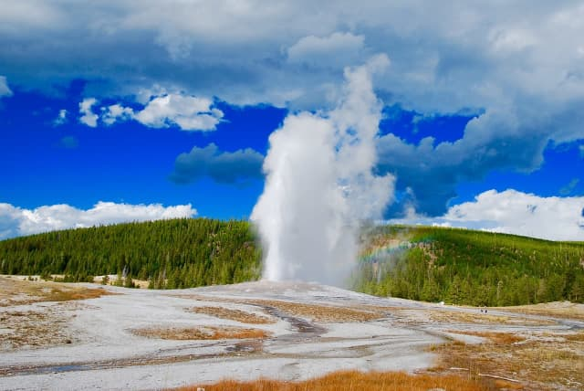 A Hudson Valley man was cited for walking on Old Faithful Geyser in Yellowstone National Park.