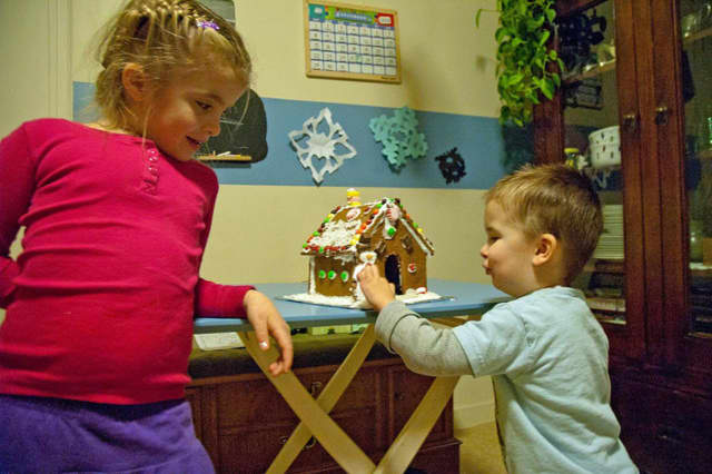 Visit the John C. Hart Memorial Library Saturday to learn how to create a gingerbread house.