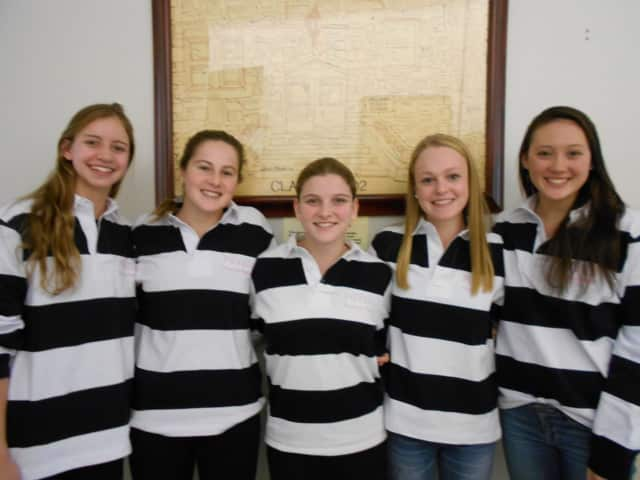 From left: Kate Douglass, Madison Hartigan, Jennifer Bell, Lucy Bischof and Jane Bryce.