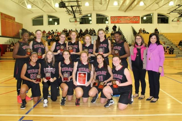 The Nyack girls basketball team (pictured) emerged victorious at the 24th Annual Howard Godwin Sleepy Hollow Holiday Basketball Tournament.