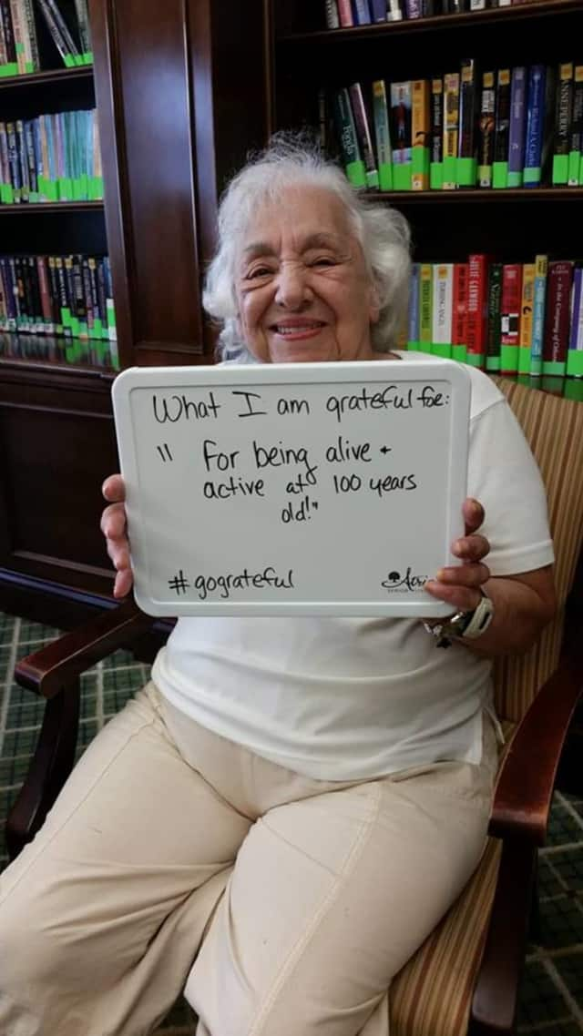 Seniors at Atria are showing what they are grateful for.