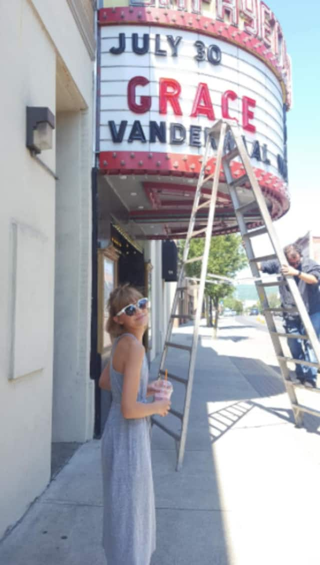 Grace VanderWaal before her performance at the Lafayette Theatre in Suffern on July 30.