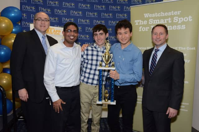 Winners from the 2016 #WestchesterSmart Mobile App Development Bowl.