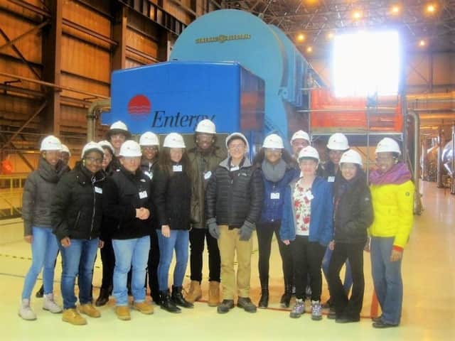 AP students from Woodlands High visited Indian Point recently to learn first-hand about nuclear power.