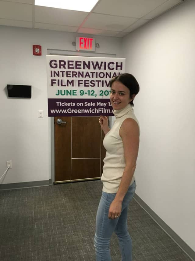 Street signs are out for the Greenwich Film Festival, which begins June 9. Coldwell Banker is one of the sponsors for the festival.