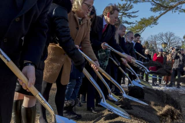 Sarah Lawrence College broke ground on the new Barbara Walters Campus Center.