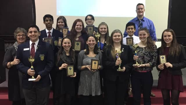 Students in Carmel High School's Future Business Leaders of America (FBLA) club recently competed in a tournament spanning several categories.