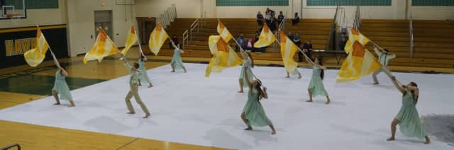 The Fair Lawn Winter Guard took first place in the USBands Old Bridge competition and its home show.