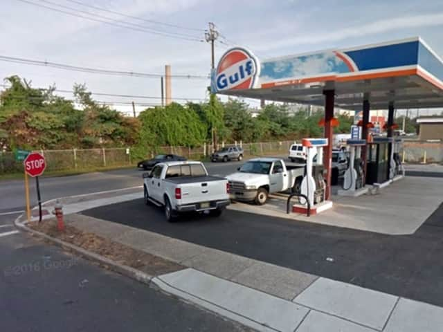 The Gulf station on River Drive.