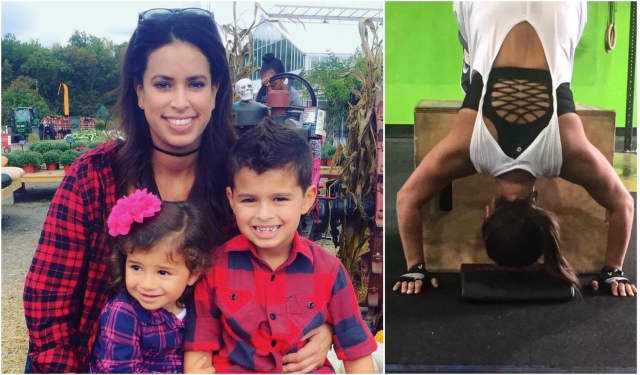Veronica Oliveros of Paramus stays strong for her kids.
