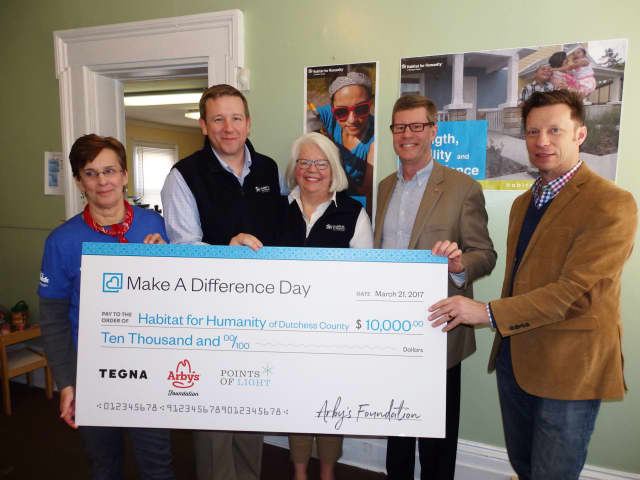 Habitat Dutchess received a $10,000 grant in honor of Make A Difference Day.