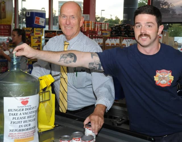 Hackensack Mayor John Labrosse and Hackensack Firefighter John Parisik participated in the event.