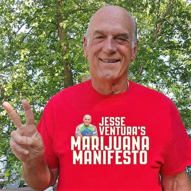 "Jesse Ventura is promoting a new book, ""Jesse Ventura's Marijuana Manifesto."""