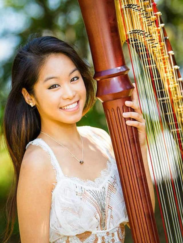Harpist Katy Wong and others will be performing in Ridgewood on Sunday.