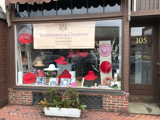 Barbara Whitworth's hats are at a Bronxville pop-up, just in time for Valentine's Day. Courtesy Barbara Whitworth.