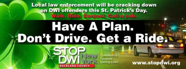 STOP-DWI, and law enforcement officials, are urging folks to celebrate smart on St. Patrick's Day. The foundation is offering a free app which, it said, will help partygoers find a safe way home, whether it be walking, carpooling, or calling a cab.