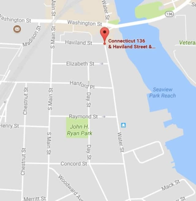 Water Street in Norwalk was closed Tuesday evening from Haviland Street to Concord Street due to a structure fire
