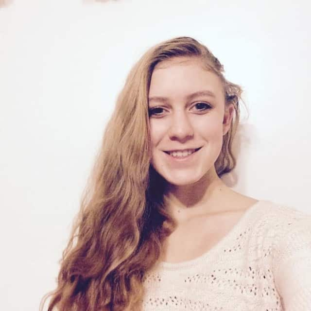 """Schorship winner, Adrienne Lett, of Yorktown Heights will be among students featured in a """"digital yearbook"""" in Times Square, Manhattan."""