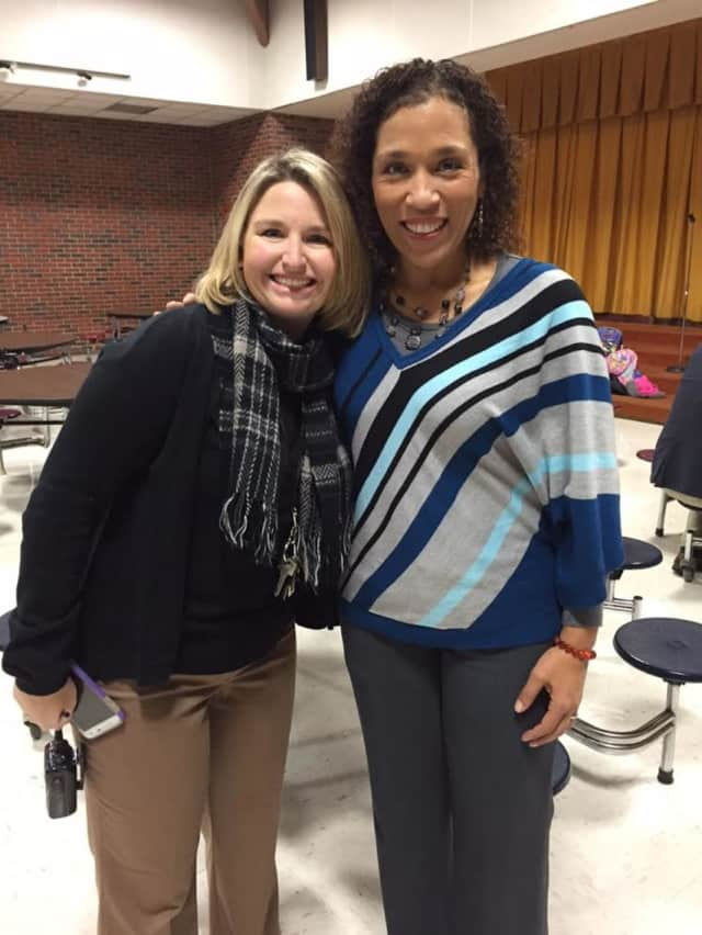 Heather Pellicone, principal of South Street Elementary School, and Carrie Amos, president of the Jericho Partnership, will be working together to serve the school community, as part of CityServe, Jericho's new initiative.