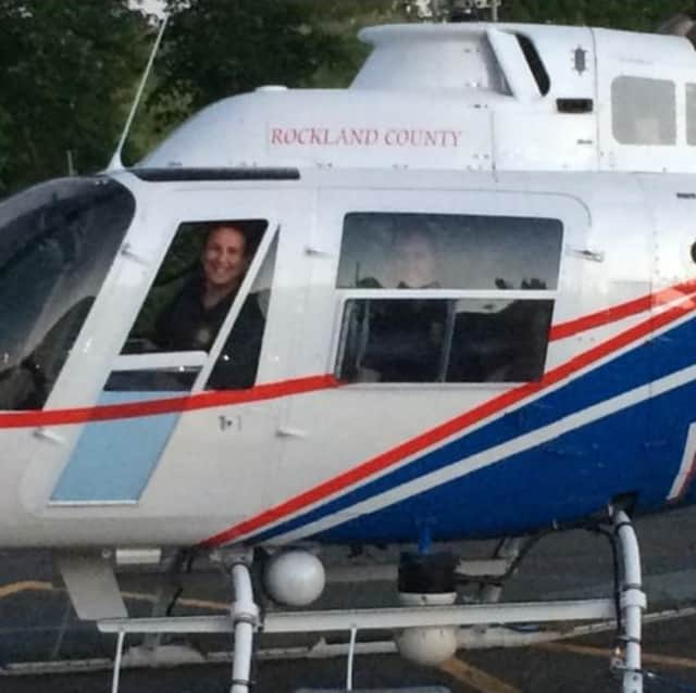 The Ramapo Police Department's student interns learned firsthand about Rockland County's Emergency Services helicopter.