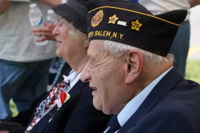 North Salem veteran Herb Geller was honored in the Town's Memorial Day celebration.