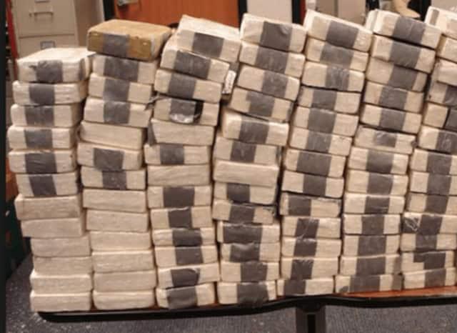 Heroin bricks.