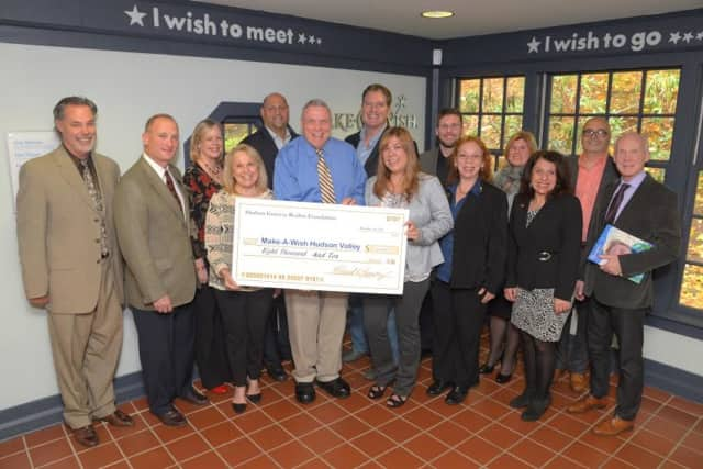 The Hudson Gateway Association of Realtors raised over $8,000 for the Make-A-Wish Foundation.