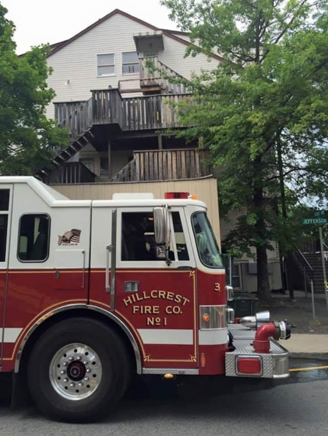 Police and fire officials were called to a home on Jefferson Avenue in the Ramapo hamlet of Hillcrest on Monday to investigate a fire that had apparently started in a closet.