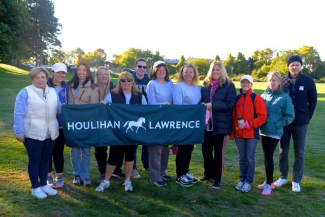 The Houlihan Lawrence team raised more than $88,000 through their participation in Westchester's Making Strides Against Breast Cancer walk.