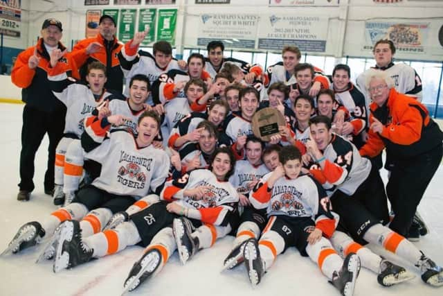Mamaroneck High School's varsity hockey team advanced to the Division 1 state final in Buffalo on Saturday with a 5-2 win over Pittsford. It's the Tigers' first shot at a state title since 2009.