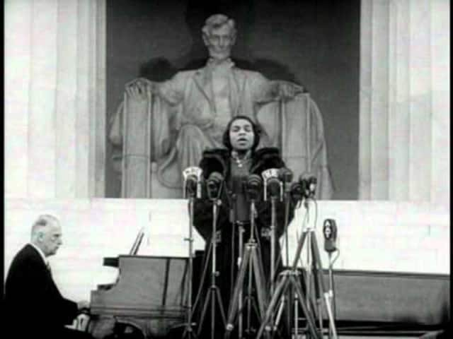Marion Anderson, who lived in Danbury, makes history as she sings on the steps of the Lincoln Memorial in 1939.