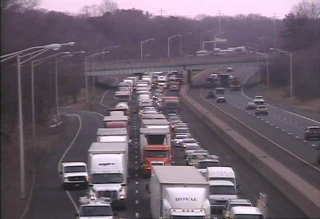I-95 south in Westport is backed up after a tractor trailer crash