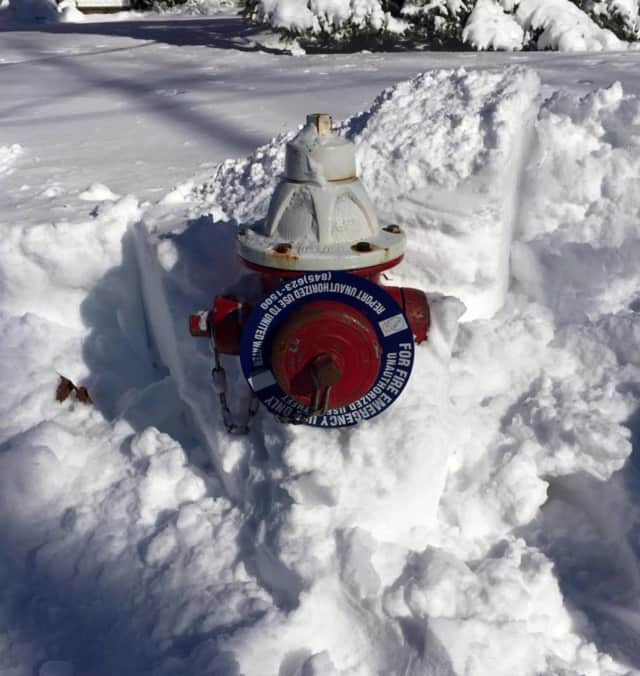 Fire hydrants buried by the blizzard should be cleared  for usage in the event of an emergency.