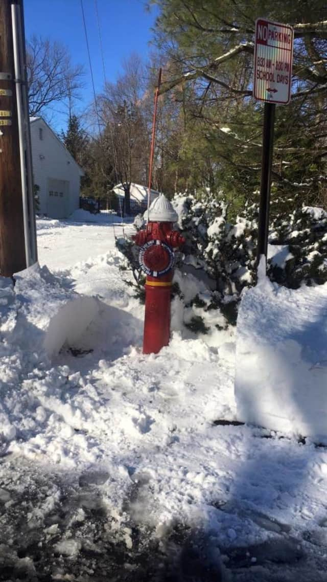 New City Fire Engine Company 1 posted this photo of a perfectly cleared hydrant on their Facebook page.