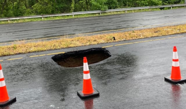 Route 19 sinkhole.