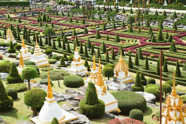 The Nong Nooch Tropical Garden in Pattaya, Thailand, is a place where more than 2,000 daily visitors get acquainted with Thai culture and conservation.