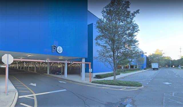 Police found the woman's car on top of the parking garage at the IKEA in Paramus.