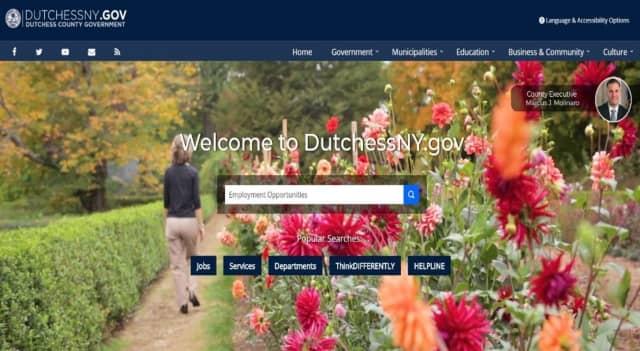 Homepage of the new Dutchess County website (dutchessny.gov)