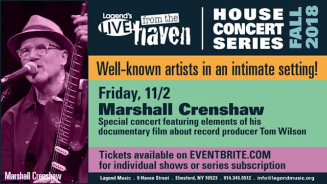Marshall Crenshaw performs Friday, Nov. 2 at Lagond Music School in Elmsford.