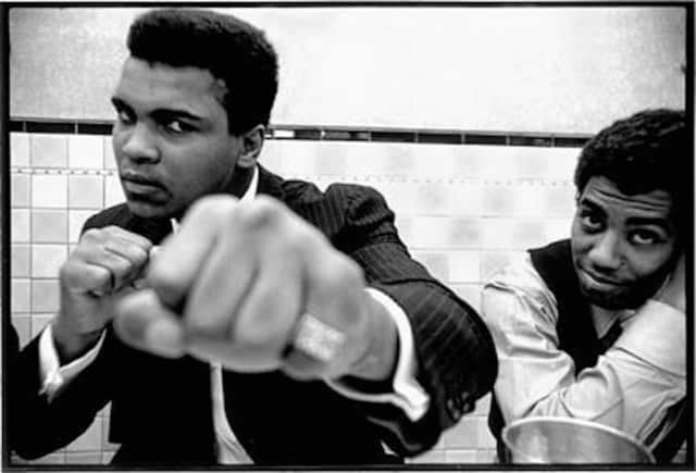 Muhammad Ali in 1969 at Jake's Diner in Athens, Ohio by Richard Frank