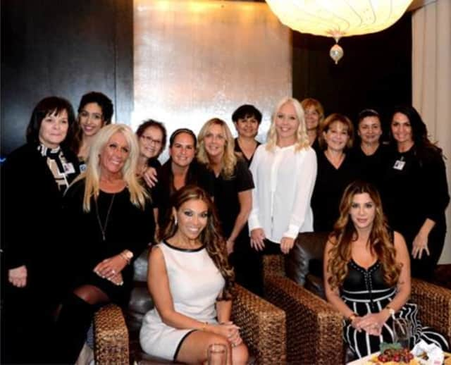 """""""Real Housewives"""" Dolores Catania (seated at left) and Siggy Flicker (seated at right)."""