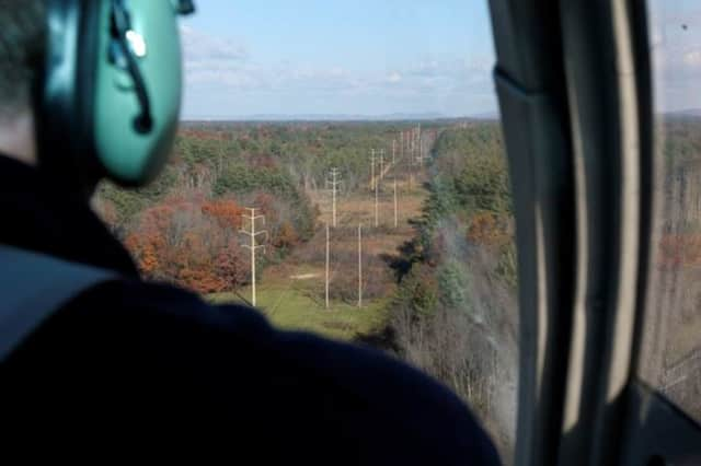 Eversource has been inspecting Connecticut power lines from the air in anticipation of the next Nor-easter forecast to bring up to a foot of snow to the region on Wednesday.